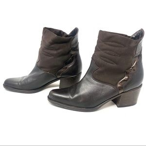 Arnold Churgin Brown Leather Western Ankle Boots